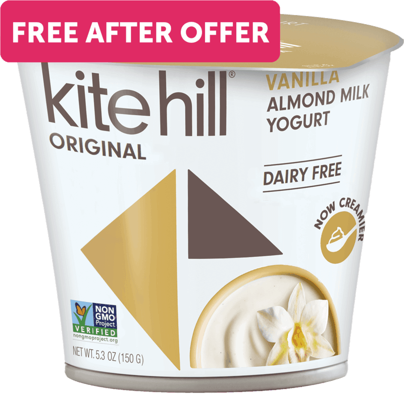$1.99 for Kite Hill Dairy Free Yogurt (expiring on Friday, 11/05/2021). Offer available at multiple stores.
