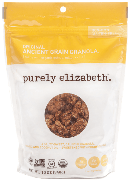 $1.50 for Purely Elizabeth® Original Ancient Grain Granola. Offer available at Walmart.