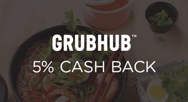 $0.00 for Grubhub (expiring on Sunday, 11/03/2019). Offer available at Grubhub.