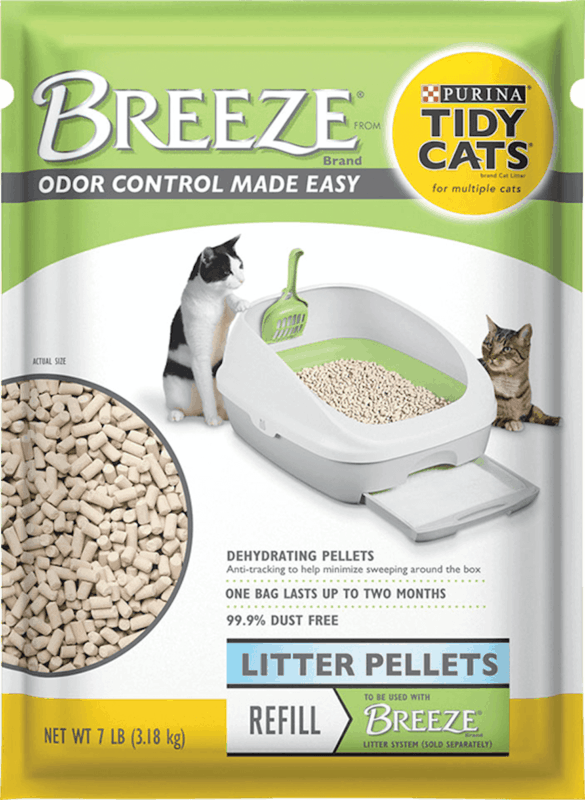 $3.00 for Purina Tidy Cats Breeze Cat Litter Pellets Refill Pack (expiring on Monday, 08/31/2020). Offer available at Meijer, H-E-B, PetSmart.