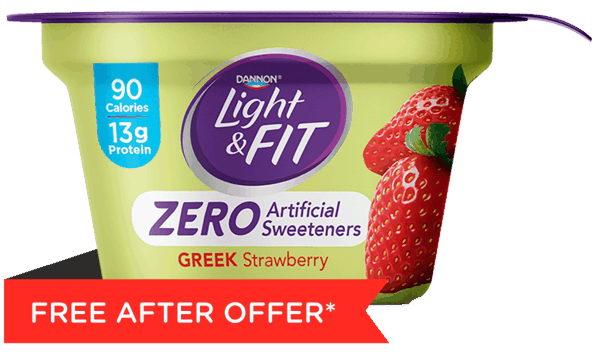 $1.25 for Light & Fit Greek Yogurt with Zero Artificial Sweeteners (expiring on Sunday, 07/01/2018). Offer available at multiple stores.