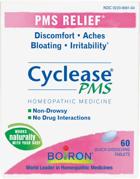 $1.00 for Boiron®Cyclease® PMS (expiring on Wednesday, 08/01/2018). Offer available at Publix, Giant Eagle, Wegmans, Whole Foods Market®.