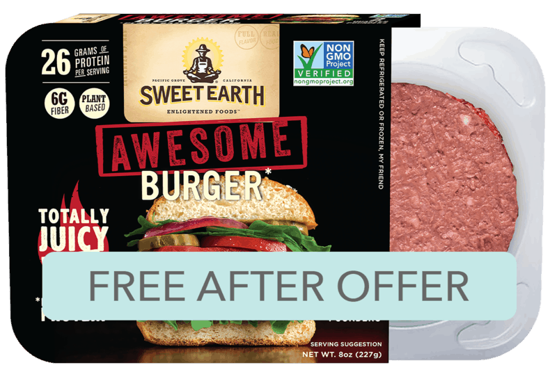 $5.99 for Sweet Earth Awesome Burger (expiring on Friday, 02/21/2020). Offer available at multiple stores.