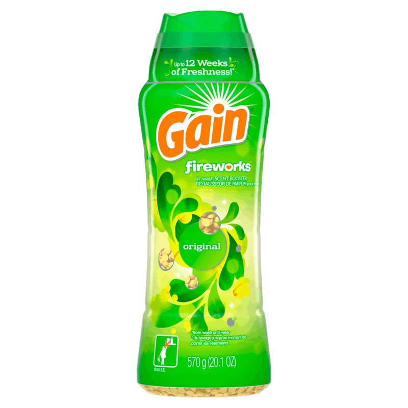 $1.00 for Gain Fireworks Scent Booster (expiring on Friday, 12/11/2020). Offer available at Walmart, Walmart Grocery.