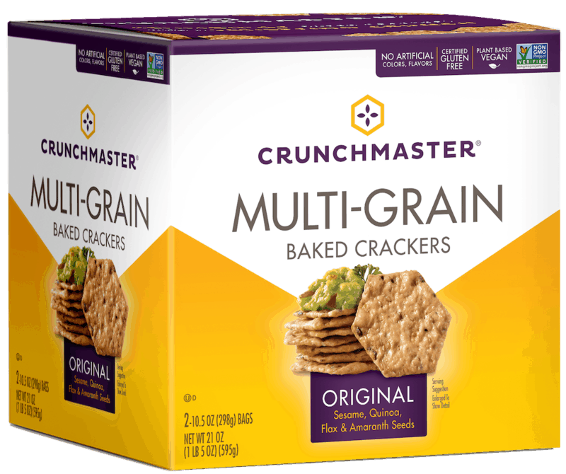 $1.50 for CRUNCHMASTER Crackers and Snacks (expiring on Monday, 03/15/2021). Offer available at BJ's.