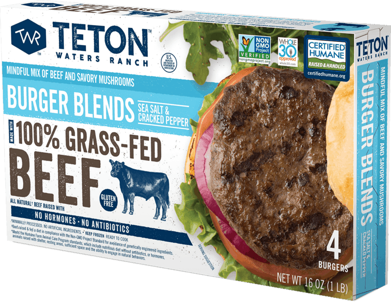 $2.00 for Teton Waters Ranch Burger Blends (expiring on Friday, 08/06/2021). Offer available at Safeway, Albertsons.