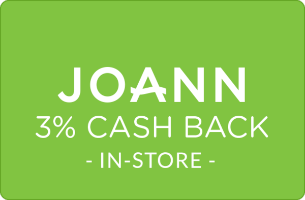 $0.00 for 3% at JOANN (expiring on Monday, 12/31/2018). Offer available at JOANN .