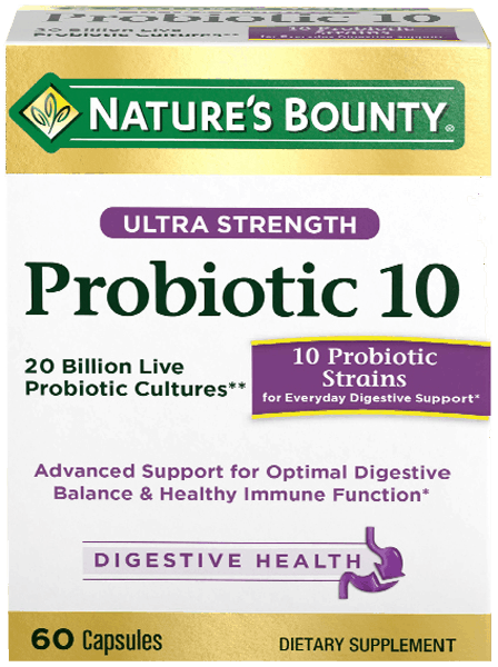 image regarding Nature's Bounty Coupon Printable called $2.00 for Natures Bounty® Probiotic 10. Supply offered at