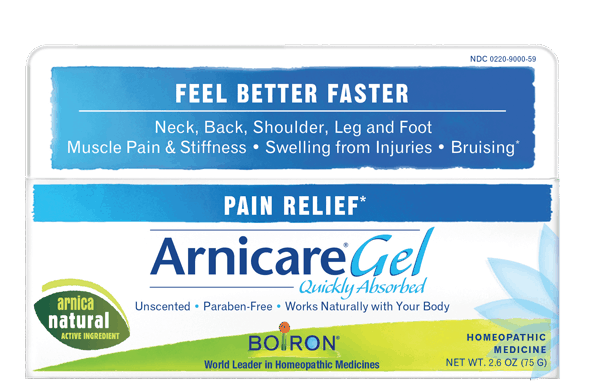 $2.00 for Boiron® Arnicare® Gel (expiring on Wednesday, 08/01/2018). Offer available at multiple stores.