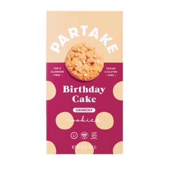 $1.00 for Partake Cookies (expiring on Wednesday, 09/22/2021). Offer available at Whole Foods Market.