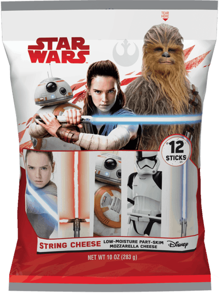 $0.75 for STAR WARS™ Mozzarella String Cheese (expiring on Friday, 11/02/2018). Offer available at Walmart.