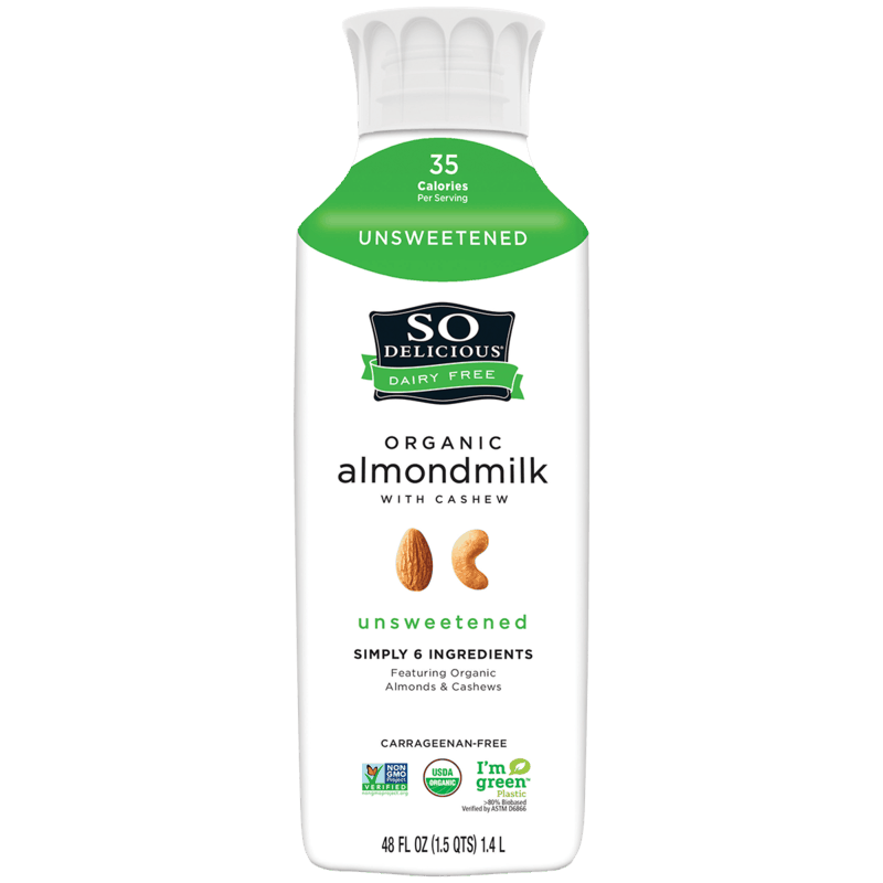 $0.50 for So Delicious Dairy Free Organic Almondmilk with Cashew (expiring on Wednesday, 10/02/2019). Offer available at Target, Publix, Whole Foods Market®.