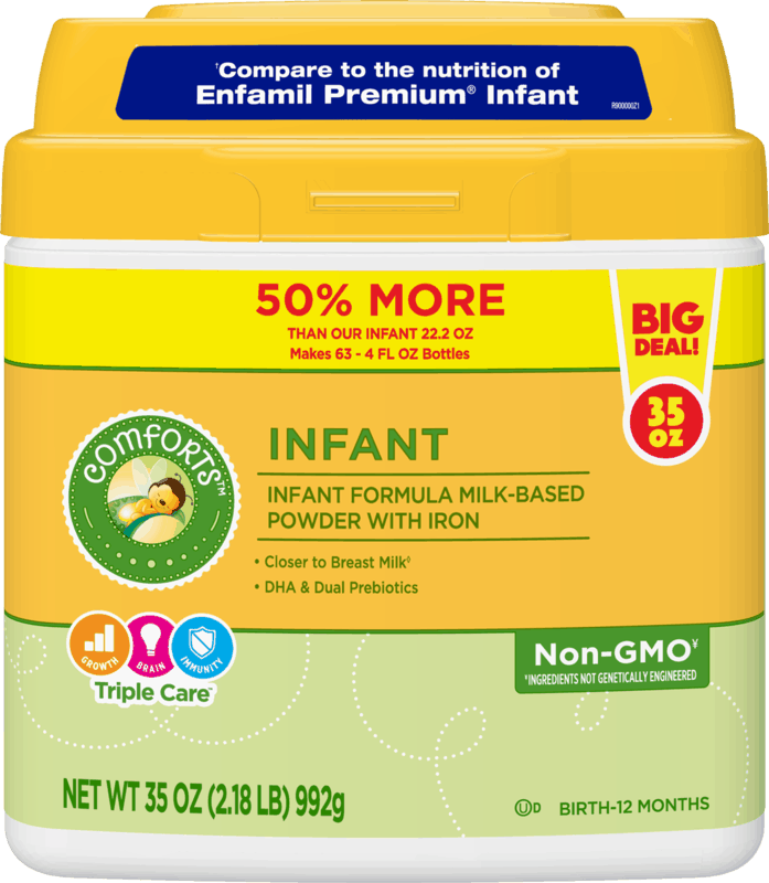 $6.00 for Comforts Premium Infant Formula. Offer available at multiple stores.