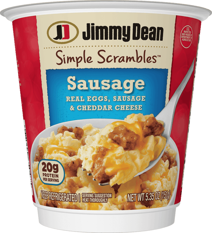 $0.55 for Jimmy Dean Simple Scrambles® Breakfast Cups. Offer available at multiple stores.