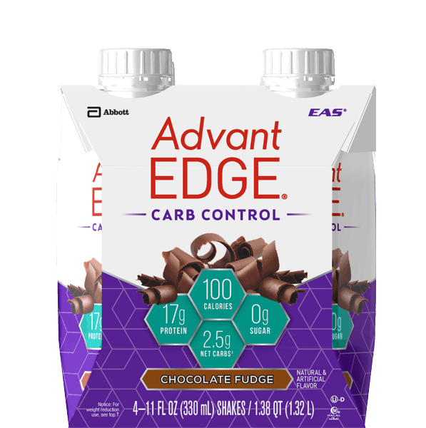 $1.00 for EAS® AdvantEDGE® Carb Control™ Protein Shakes. Offer available at Walmart.