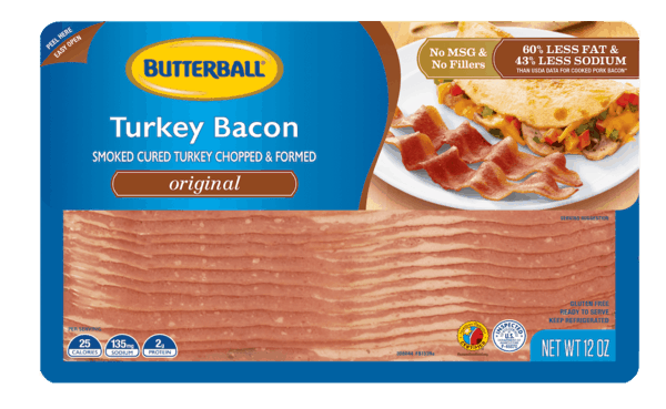 $0.60 for Butterball® Everyday Bacon. Offer available at multiple stores.