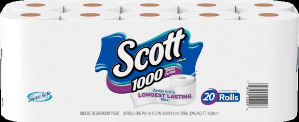 $1.00 for Scott® Bath Tissue (expiring on Wednesday, 11/29/2017). Offer available at Walmart.
