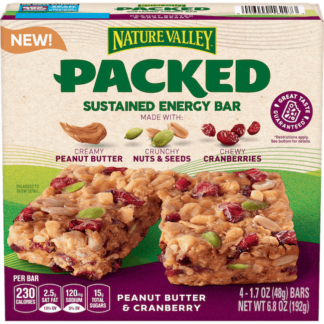 $1.00 for Nature Valley Packed Bars (expiring on Monday, 11/09/2020). Offer available at Walmart, Walmart Grocery.