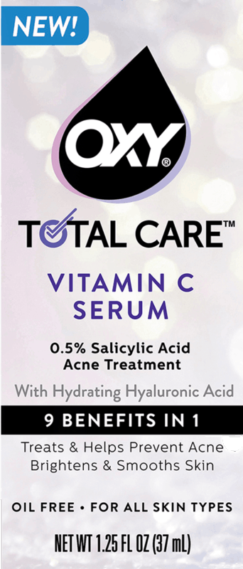 $1.00 for OXY Total Care Anti-Acne Vitamin C Serum (expiring on Sunday, 03/01/2020). Offer available at multiple stores.