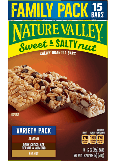 $1.50 for Nature Valley Granola Bars Family Pack (expiring on Wednesday, 09/16/2020). Offer available at Walmart, Walmart Grocery.