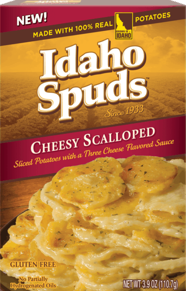 $0.25 for Idaho® Spuds™ Scalloped Flavored Potatoes (expiring on Sunday, 09/02/2018). Offer available at multiple stores.