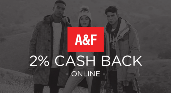 $0.00 for Abercrombie & Fitch (expiring on Sunday, 02/03/2019). Offer available at Abercrombie & Fitch .