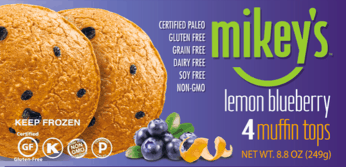 $1.25 for Mikey's® Muffin Tops. Offer available at Walmart, Gelson's.