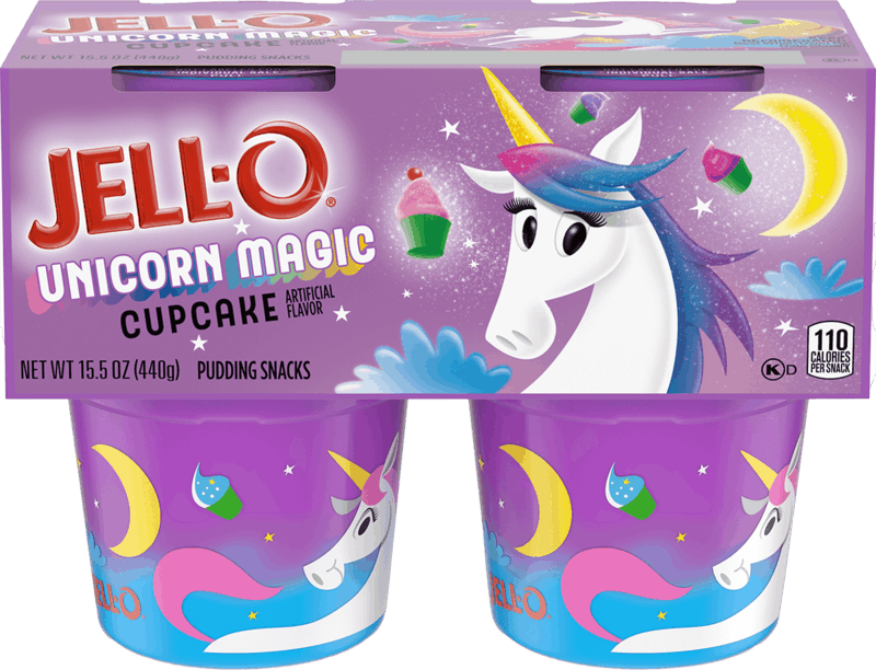 $0.75 for Jell-O Unicorn Magic Cupcake Pudding (expiring on Saturday, 04/24/2021). Offer available at multiple stores.