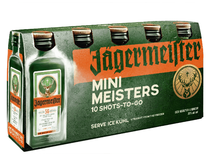 $1.00 for Jägermeister® Mini Meisters (expiring on Saturday, 06/06/2020). Offer available at multiple stores.