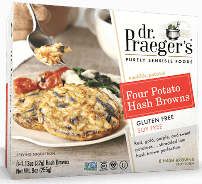 $1.00 for Dr. Praeger's® Hash Browns (expiring on Saturday, 12/28/2019). Offer available at multiple stores.