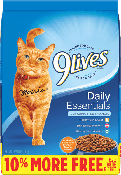$1.25 for 9Lives® Dry Cat Food. Offer available at Walmart.
