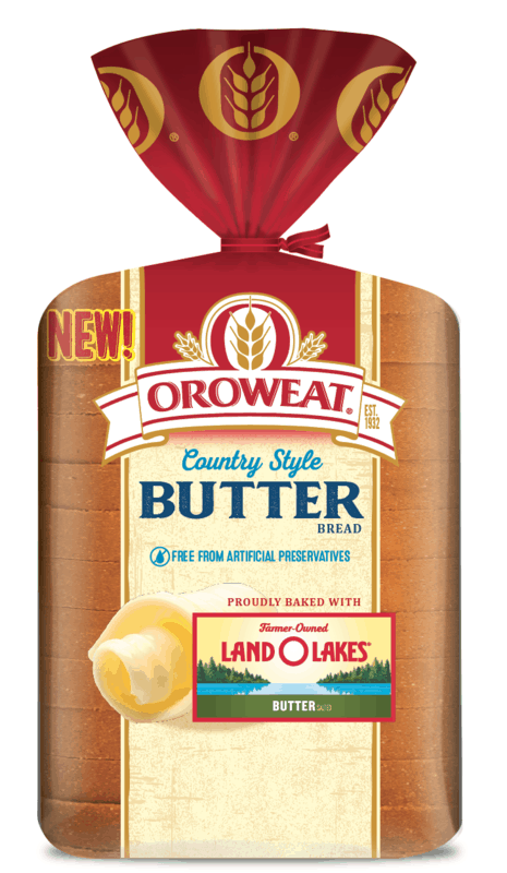 $0.50 for Oroweat Country Style Butter Bread. Offer available at multiple stores.