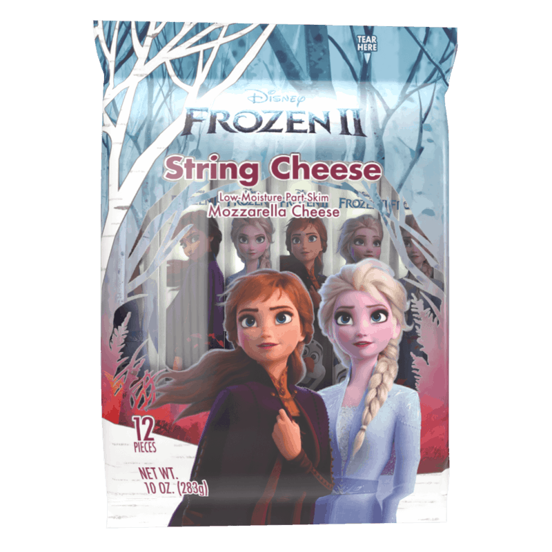 $0.50 for Disney® Frozen II® Cheese (expiring on Tuesday, 12/31/2019). Offer available at multiple stores.