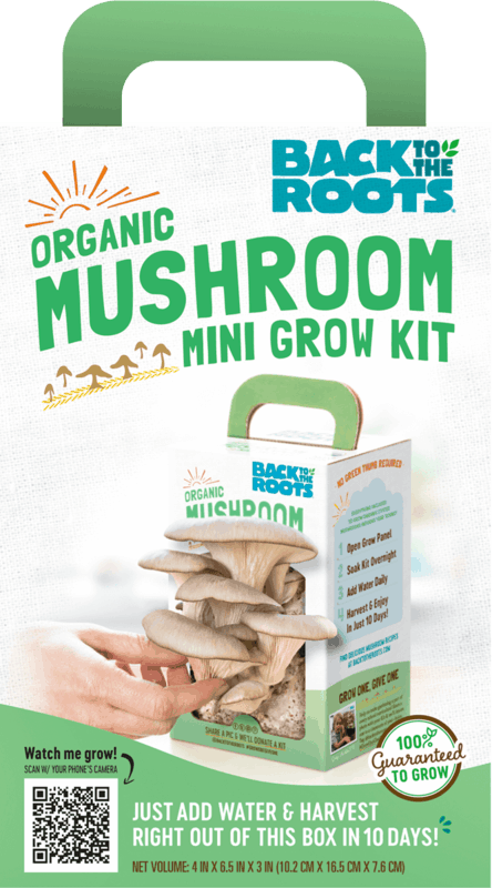 $10.00 for Back to the Roots Organic Mushroom Grow Kit (expiring on Friday, 04/24/2020). Offer available at Walmart, Walmart Grocery.