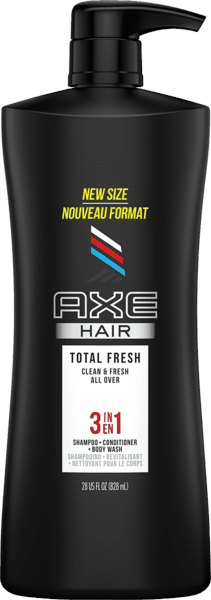 $2.00 for AXE  3-in-1 Shampoo + Conditioner + Body Wash (expiring on Wednesday, 07/31/2019). Offer available at multiple stores.