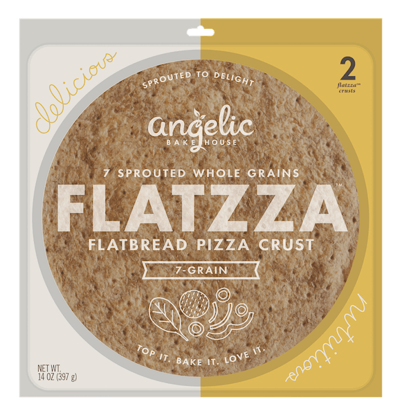 $2.00 for Angelic Bakehouse Flatzza (expiring on Saturday, 10/31/2020). Offer available at multiple stores.