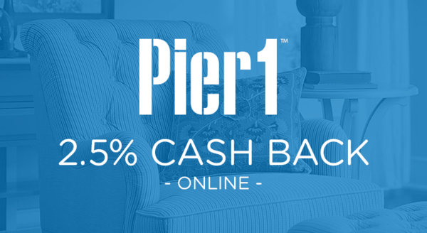 $0.00 for Pier 1 Imports (expiring on Wednesday, 04/30/2025). Offer available at Pier 1 Imports.