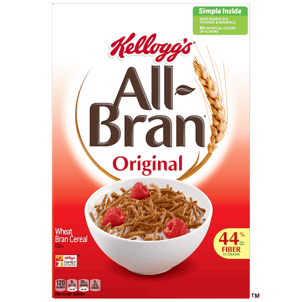 $0.50 for Kellogg's® All-Bran® Cereal (expiring on Thursday, 08/01/2019). Offer available at multiple stores.