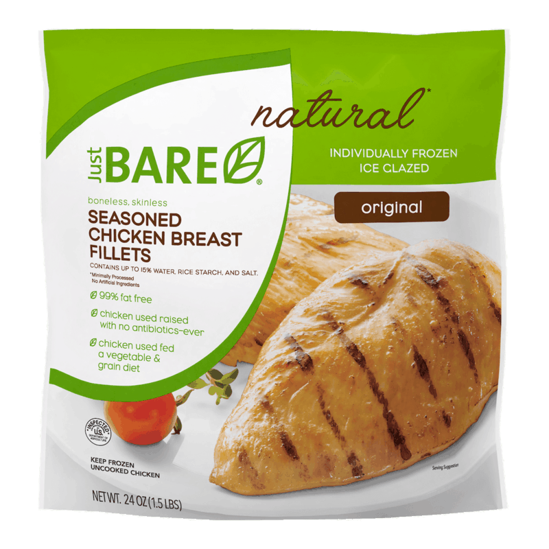 $1.50 for Just BARE Frozen Chicken Items (expiring on Thursday, 12/31/2020). Offer available at multiple stores.