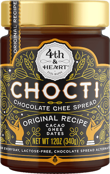 $2.00 for 4th & Heart® Chocti Chocolate Ghee Spread (expiring on Monday, 09/02/2019). Offer available at multiple stores.