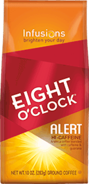 $1.00 for Eight O'Clock® Coffee Infusions (expiring on Thursday, 08/02/2018). Offer available at multiple stores.