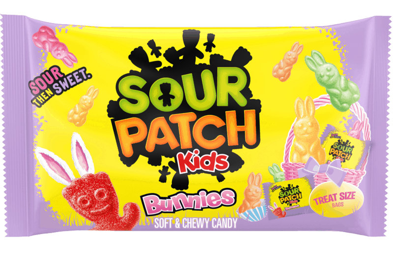 $0.75 for SOUR PATCH KIDS Soft and Chewy Candy Bunnies (expiring on Saturday, 05/09/2020). Offer available at Walmart, Walmart Grocery.