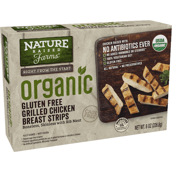 $2.00 for NatureRaised Farms® Organic Grilled Chicken Breast Strips (expiring on Friday, 03/15/2019). Offer available at Publix.