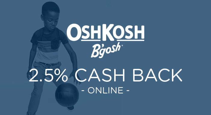 $0.00 for OshKosh B'gosh (expiring on Saturday, 11/28/2020). Offer available at OshKosh B'gosh.