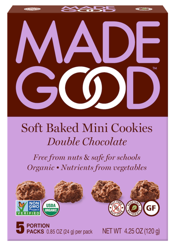 $1.00 for MadeGood Soft Baked Mini Cookies (expiring on Sunday, 06/21/2020). Offer available at multiple stores.