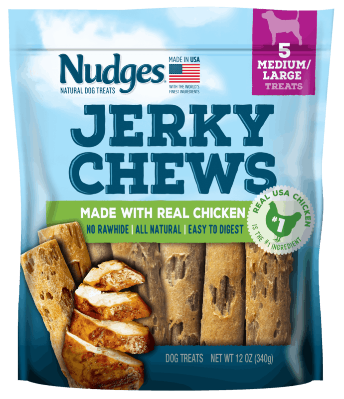 $2.00 for Nudges Jerky Chews Dog Treats (expiring on Thursday, 09/10/2020). Offer available at Walmart, Walmart Grocery.