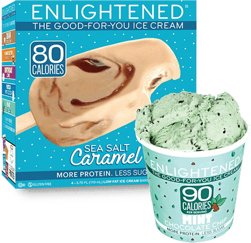$1.10 for Enlightened The Good-For-You Ice Cream (expiring on Wednesday, 01/31/2018). Offer available at multiple stores.