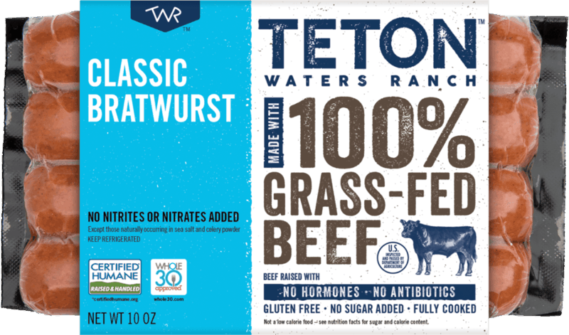 $1.50 for Teton Waters Ranch Sausages (expiring on Friday, 08/06/2021). Offer available at multiple stores.