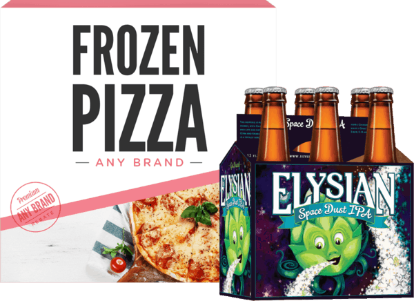 $2.00 for Elysian® AND Fresh OR Frozen Pizza (expiring on Wednesday, 05/09/2018). Offer available at multiple stores.