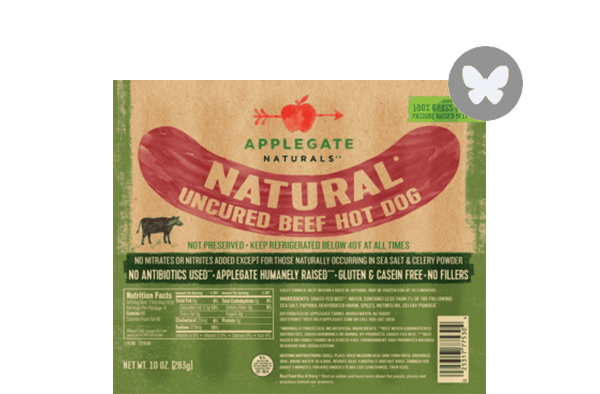 $1.00 for Applegate Naturals® Beef Hot Dog (expiring on Tuesday, 04/10/2018). Offer available at multiple stores.